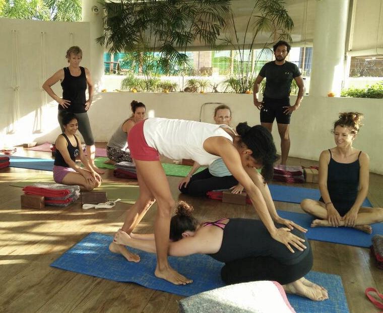 Adho Mukha Virasana Yoga Maya Bali Iyengar