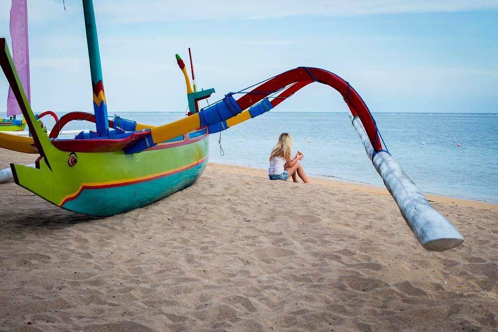 Beach Boat Bali Maya Yoga Retreat Body Mind Soul