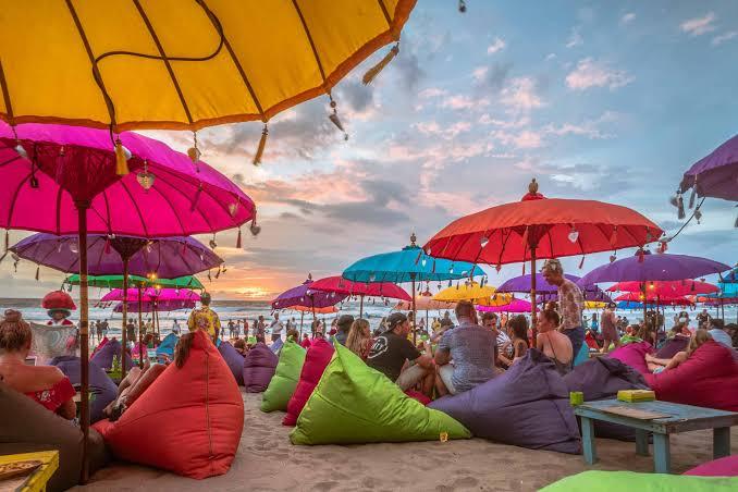 Beach Sunset Chilling Bali Maya Yoga Retreat Body Mind Soul