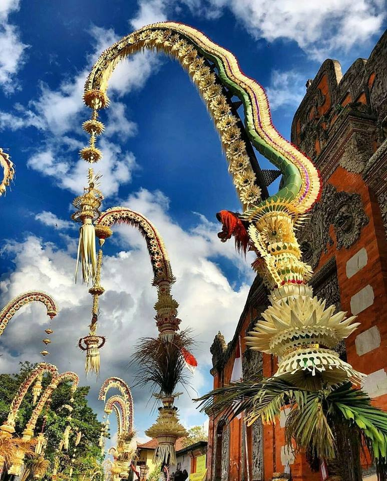 Culture Penjor Bali Maya Yoga Retreat Body Mind Soul