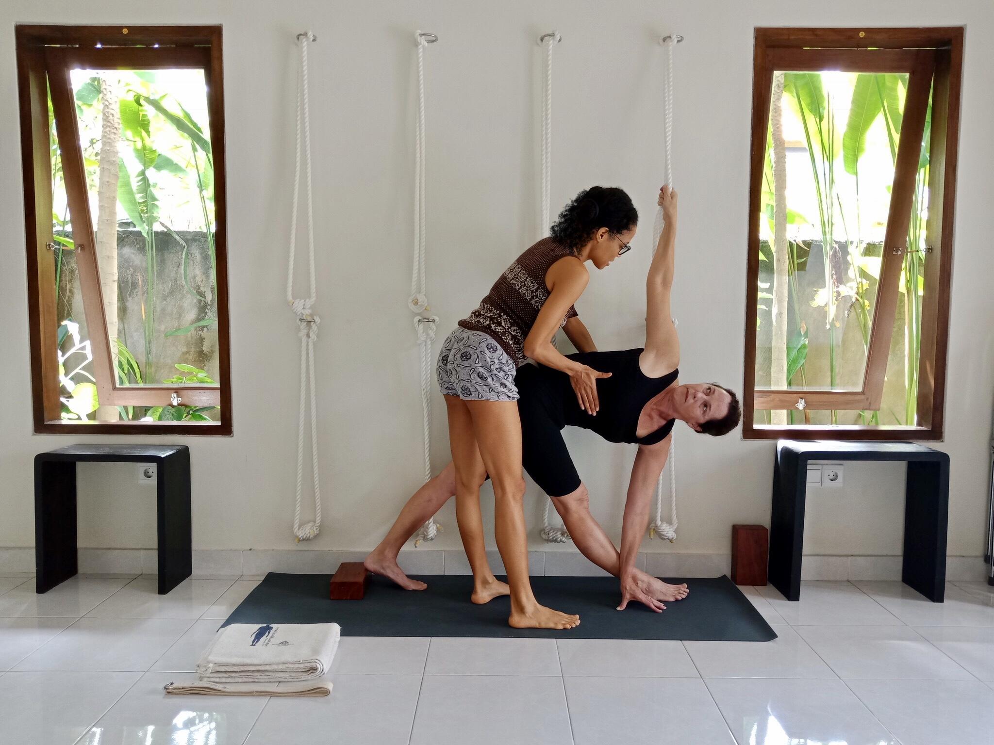 Parivrtta Trikonasana Maya Iyengar Yoga Bali Retreat