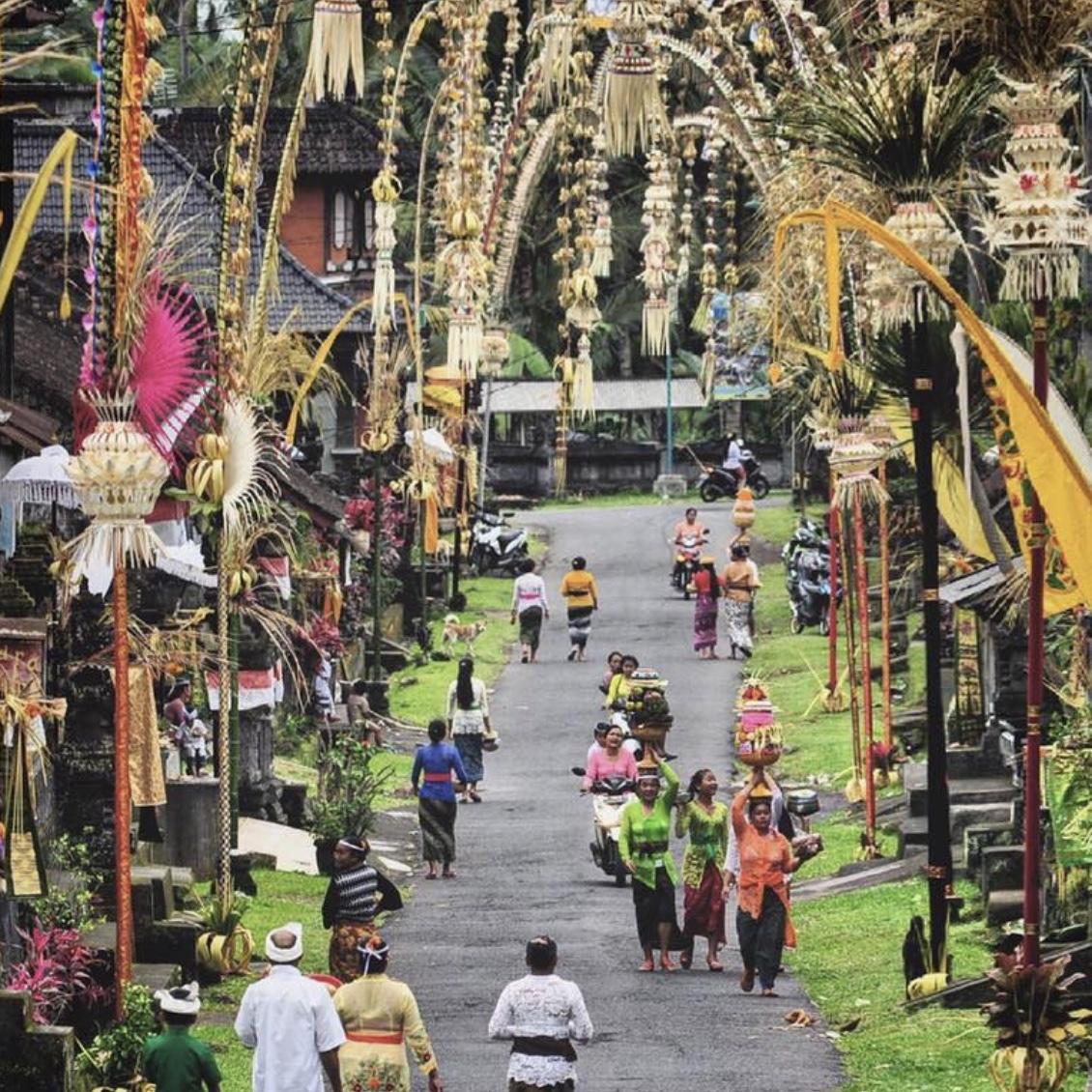 Traditional Village Galungan Bali Maya Yoga Retreat Body Mind Soul