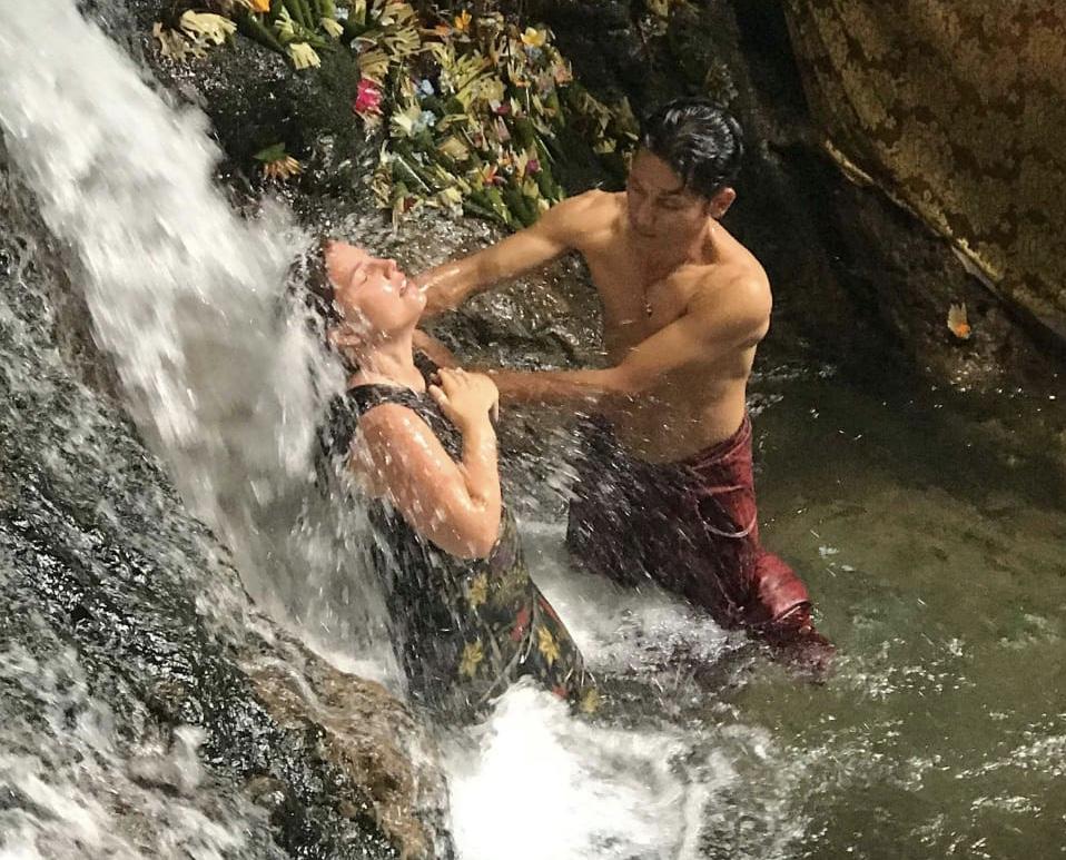 Waterfall Massage Healing Bali Maya Yoga Retreat Body Mind Soul
